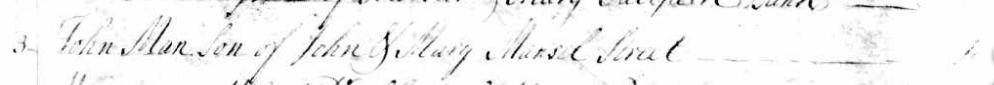 Baptism of John Man 3 Dec 1749