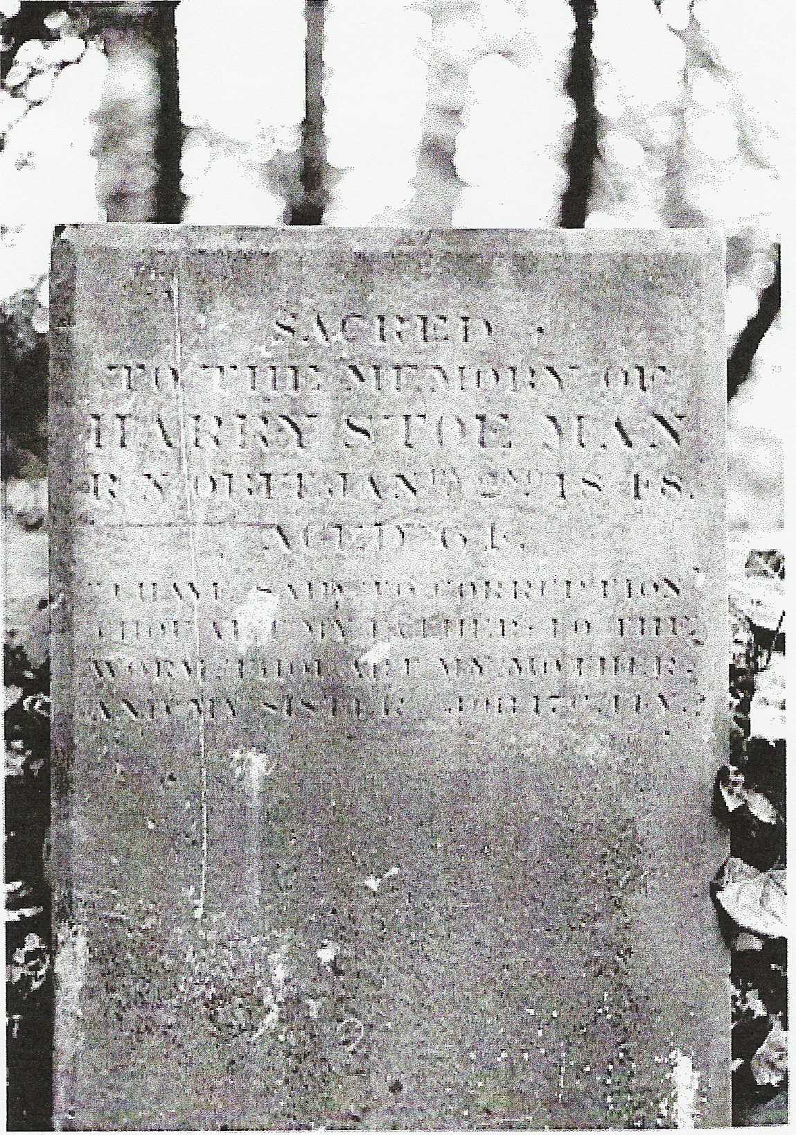 harry stoe man grave stone