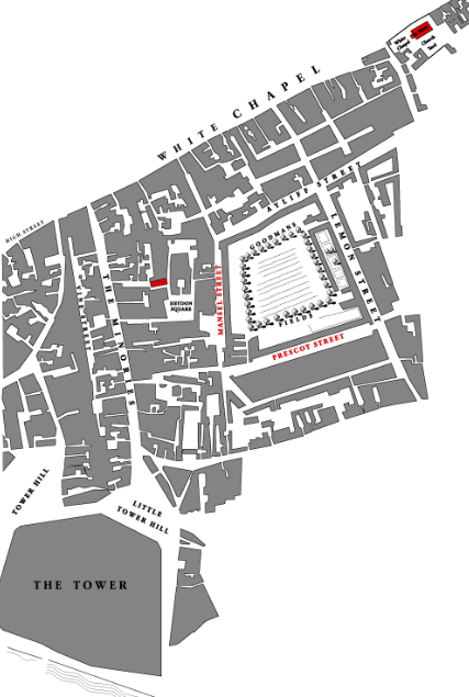 schematic mapof Whitechapel