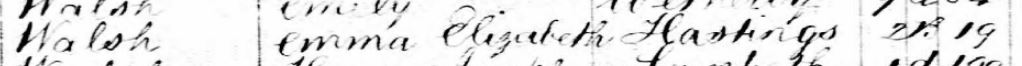 Emma Elizabeth (Man) Walch's Death Registry