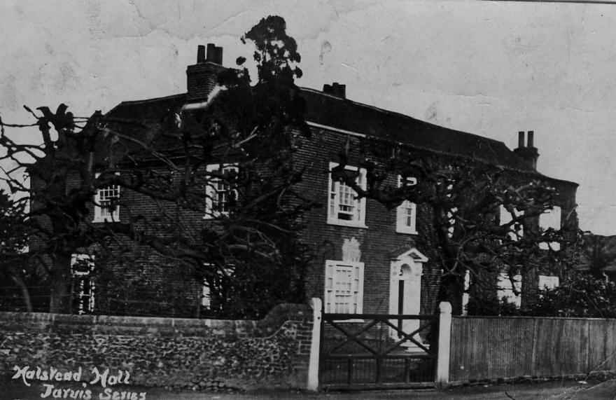 Halstead Hall Postcard