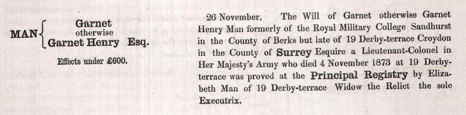 probate record for henry garnet man