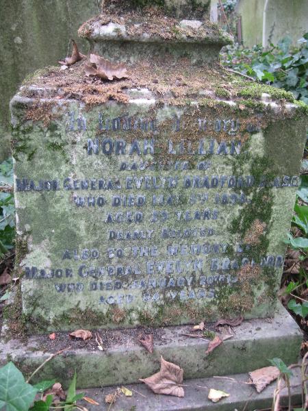 Evelyn Bradford Grave at Highgate