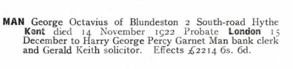George's Probate Record