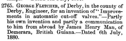 James Henry Man Patent