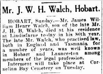 James William Henry Walch Obit