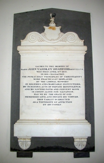 John Yardley Bradford Memorial