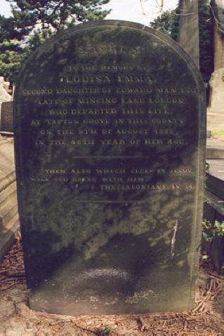 Louisa Emma Man's GraveA