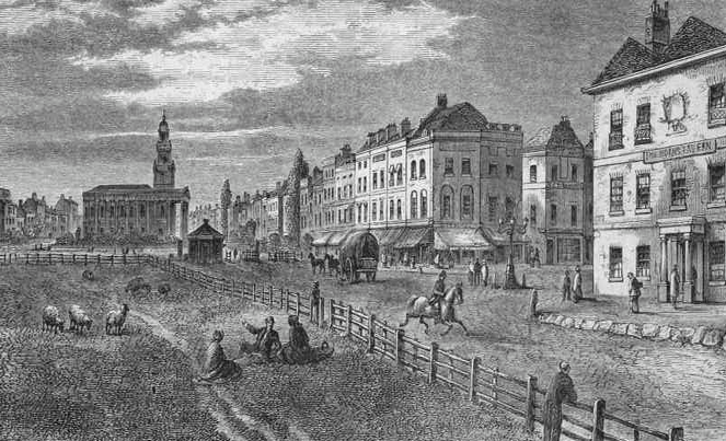 St Mark Kennington and the common in 1831