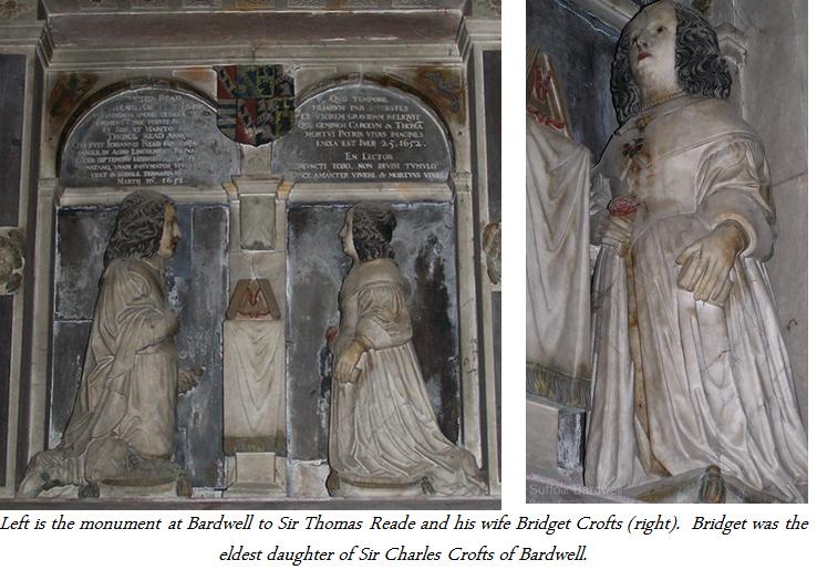 Thomas Reade and wife Bridget Crofts at Bradwell Church