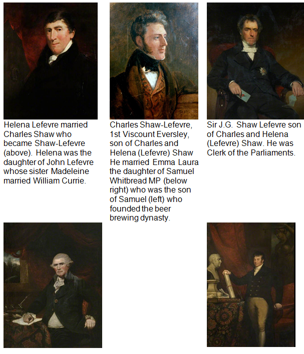 Currie -  Lefevre - Shaw Whitbread Gallery for Lowis Page one web