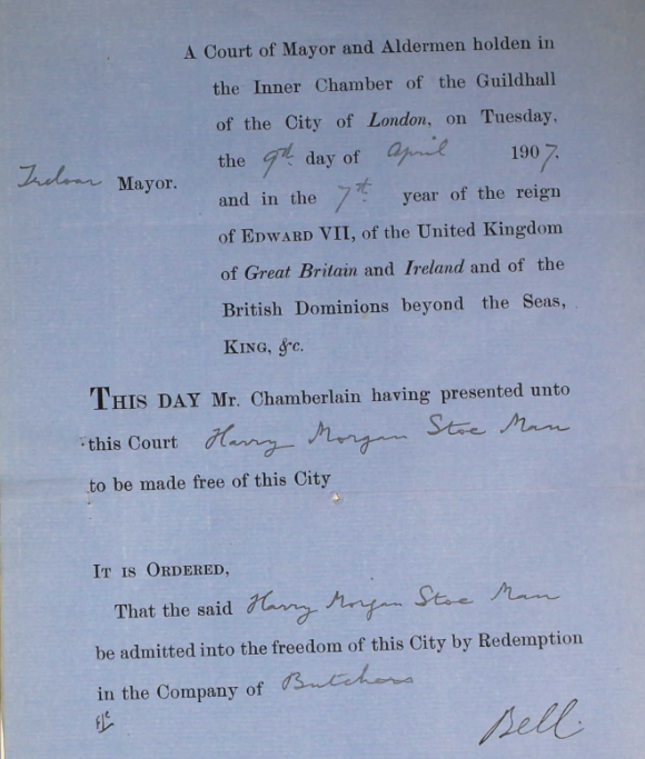 Harry's Freedom of the City of London