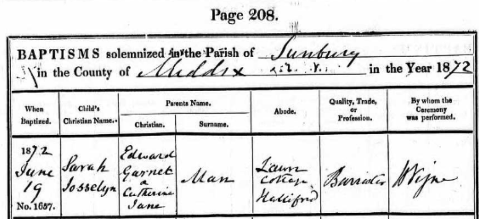 Sarah Josselyn Man Baptism