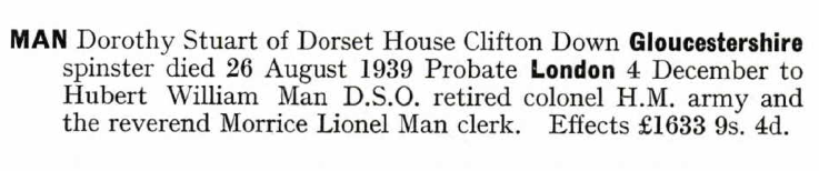 Dorothy's Probate Record