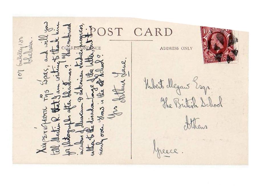 Arthur Lane Postcard
