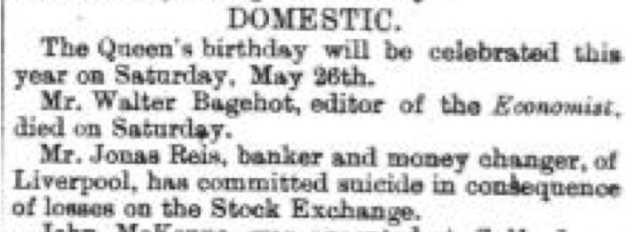 March 30 1877 Jonas Reis