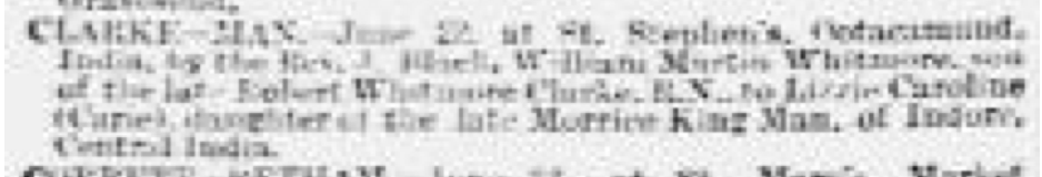Carrie Man Marriage The Standard June 25, 1891