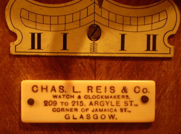 Chas. L. Reis Clock Label