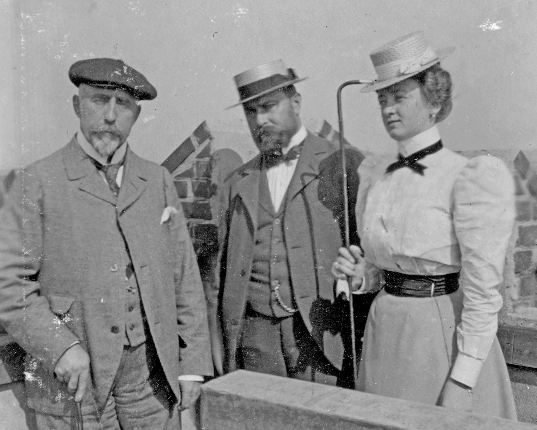 Eugene Collett, Otto Loeck and Wugene's second wife Thea