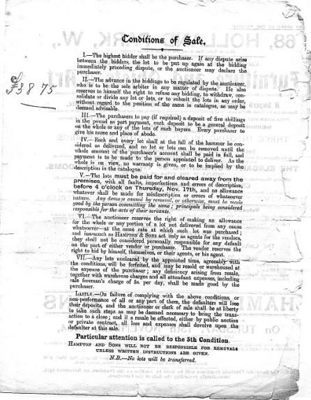 arthur montagu reis auction page two