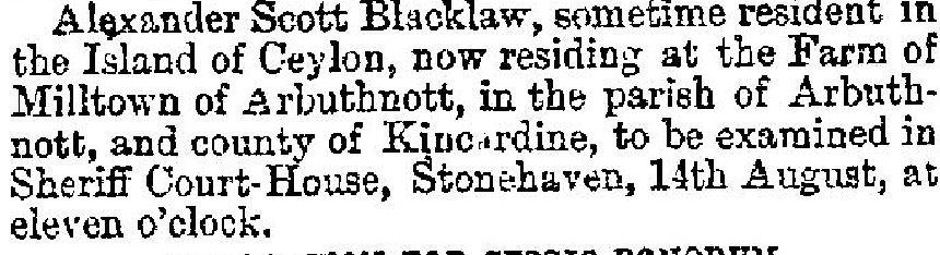 Glasgow Herald 10 August 1872