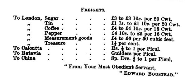 Edward Boustead Advertsement