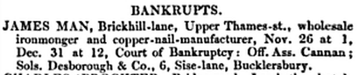 James Man Bankrupt