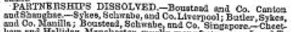 Partnership dissolved July 1848