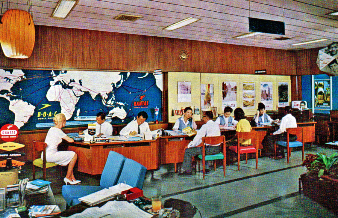 Bousteads' travel office in Singapore in 1963