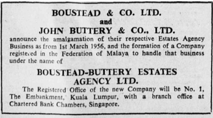 Boustead Buttery Advertsiement