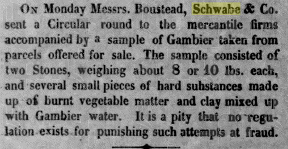Boustead Schwabe 26 Nov 1845