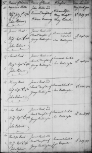 Births of James Read's Children edited