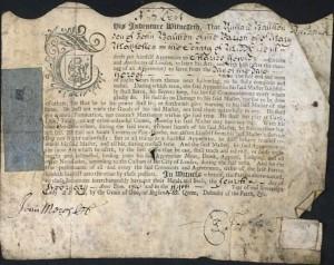 Richard Balchen Apprenticeship 1706