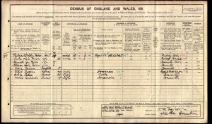 Falcon Family on the 1911 Census