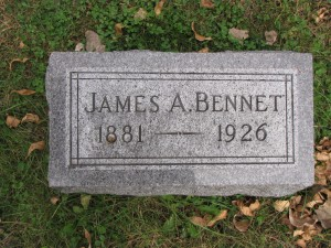James Bennet Gravestone