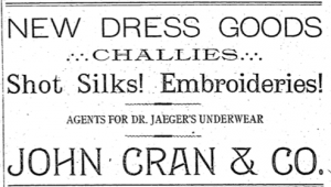 John Cran Morning Oregonian 7 Feb 1892