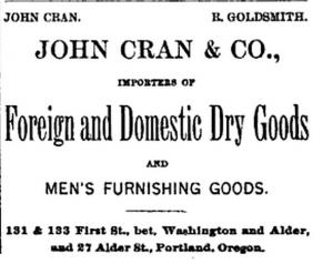 John Cran Oregon Advertisement