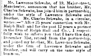 Lawrence Schwabe Partnership with his brother