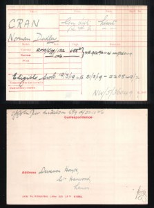 Norman Dudley Cran Army Record