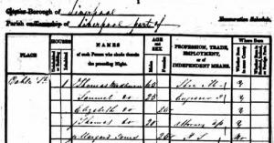 Woodburn Family pn 1841 census