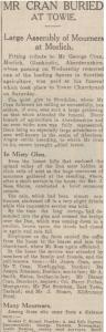 Cran Mourned December 17 1934