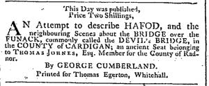 George Cumberland Hafod published June 7 1796