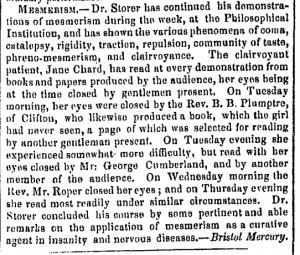 George Cumberland Messmerism December 2 1847