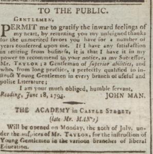 John Man Retires June 22 1795
