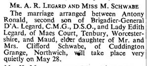 Maud Schwabe Marriage May 15 1946