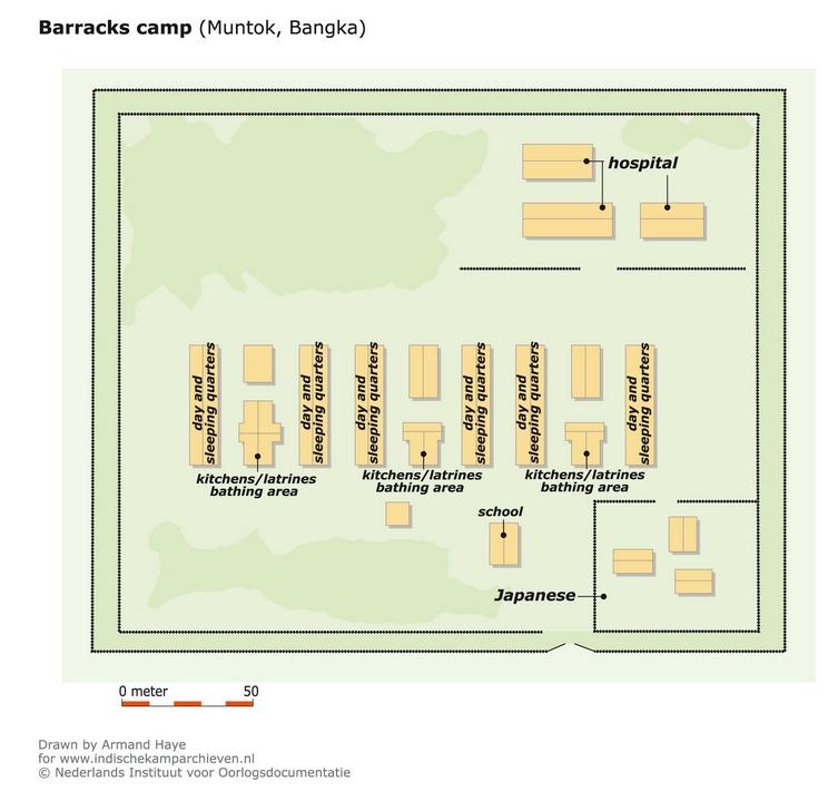 Muntok Prison Camp Map