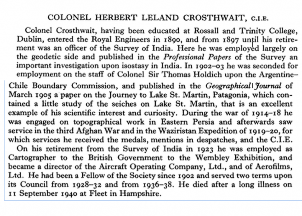 Obit of Herbert leland Crosthwait