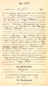 Otto Henning Christian Loeck Death Cert Edited