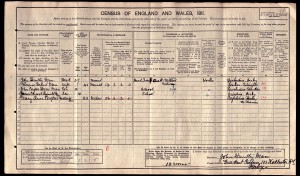 John Huntley Man and Family on 1911 census