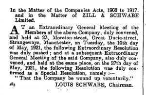 Zill and Schwabe 1921